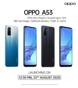 OPPO A53 - india launch